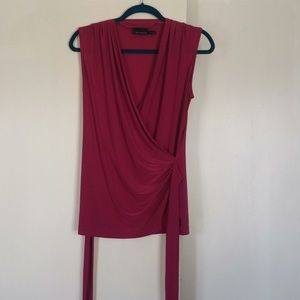 The Limited Faux Wrap sleeveless Top, size M
